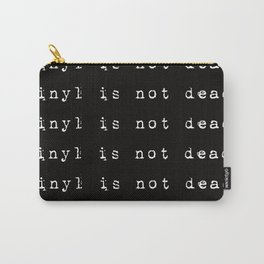 Vinyl is not dead. IV Carry-All Pouch