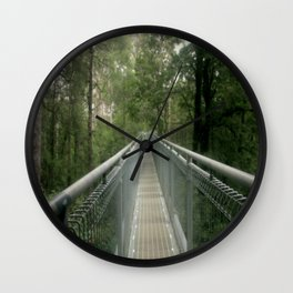 Walk above the forest Floor Wall Clock