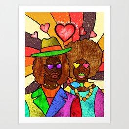 70's Love Art Print