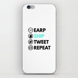 Earp Ship Tweet Repeat (Black) inspired by Wynonna Earp iPhone Skin