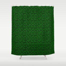 Binary Green Shower Curtain