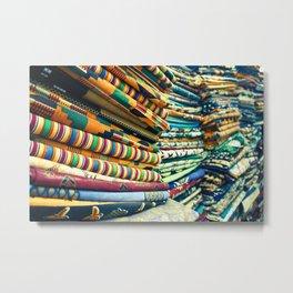 Kente Store Metal Print
