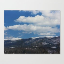 Holston Mountain Snowcaps Canvas Print