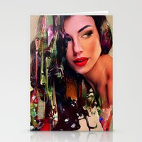 pin up Stationery Cards featuring Pin Up by Ganech joe