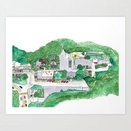 Town Square Art Print