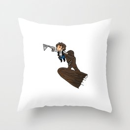 Future Smuggler King Throw Pillow