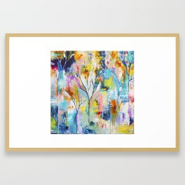 Prussian Trees Original Painting by Flora Bowley Framed Art Print