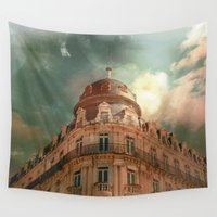 france Wall Tapestries featuring Montpellier  - France by Victoria Herrera