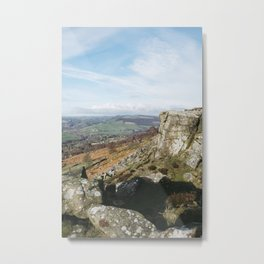View from Curbar Edge. Derbyshire, UK. Metal Print