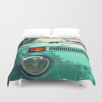 volkswagen Duvet Covers featuring Volkswagen Bus by D_Gusto