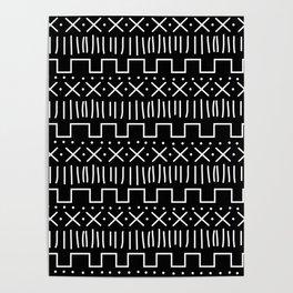 Black Mud Cloth Poster