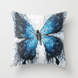 The Butterfly Tattoo Throw Pillow