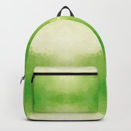 Kaleidoscopic design in green soft colors Backpack