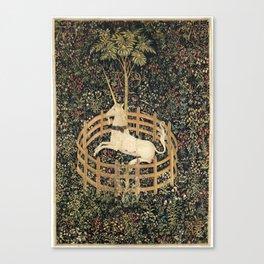 Unicorn in Captivity Canvas Print
