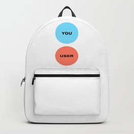 You Are Not The User - UX Design Venn Diagram Backpack
