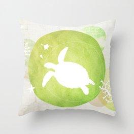Ocean Series - Mama Turtle Throw Pillow