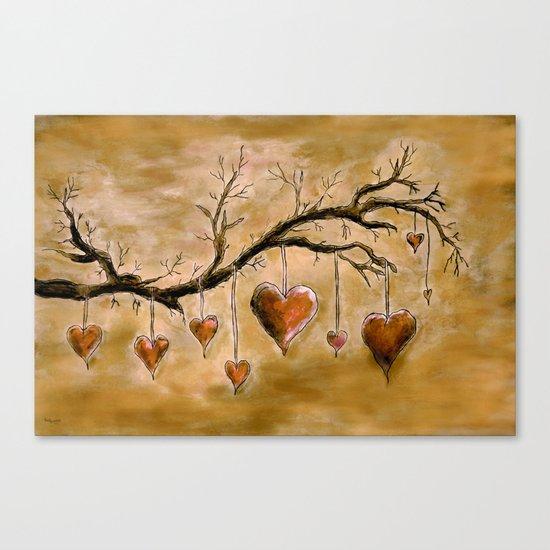 Der Liebesbaum (in Acryl) Canvas Print