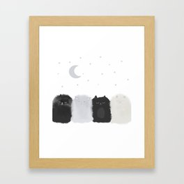 Sleep like Cats Framed Art Print