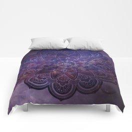Ultraviolet Mandala Comforters
