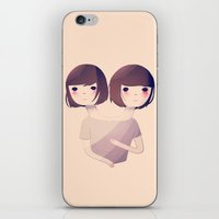 sisters iPhone & iPod Skins featuring Sisters by Nan Lawson