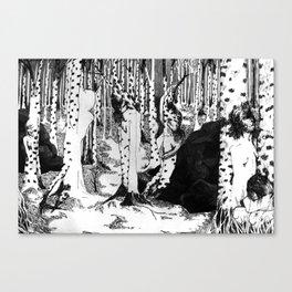 Birch trees etc.  Canvas Print