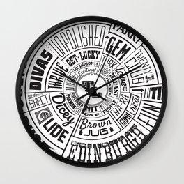 TenderLoin San Francisco Type Wheel Wall Clock