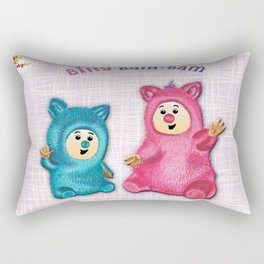 Billy Bam Bam with vintage pink background Baby TV Rectangular Pillow