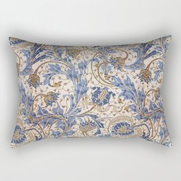 Aged Pomegranate Pattern Rectangular Pillow