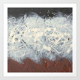 Cool Pollock Rothko Inspired Black White Red Abstract - Corbin Henry Modern Art Art Print