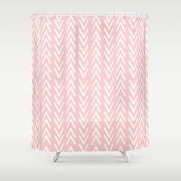 Pink Arrows Pattern Shower Curtain