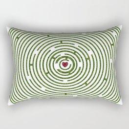 The maze to your heart Rectangular Pillow