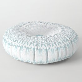 Teal Aqua Mandala Floor Pillow