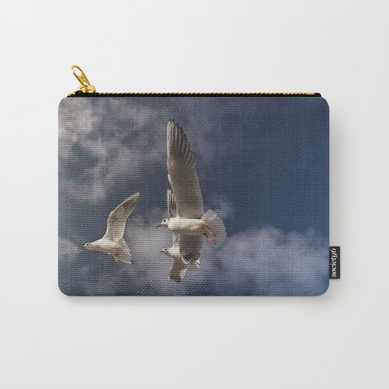 Sea-gulls Birds Animal in flight Carry-All Pouch