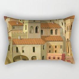 Medieval city Rectangular Pillow
