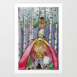 Surviving Camping Art Print