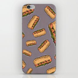 THERE'S ALWAYS TIME FOR A HOT-DOG! - LILAC iPhone Skin