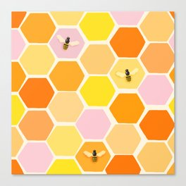Busy As A Bee In A Hive Canvas Print