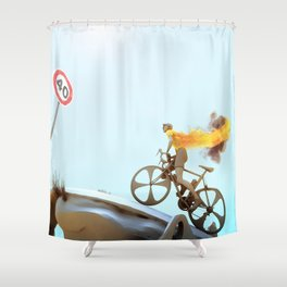 Yellow Jersey Shower Curtain