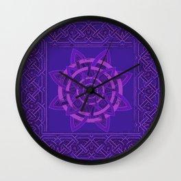 The Celtic dark-purple Wall Clock