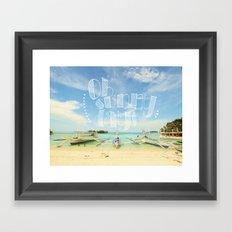 Oh Sunny Days Framed Art Print