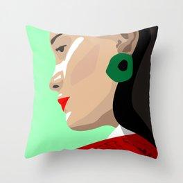 Madrid Girl Throw Pillow