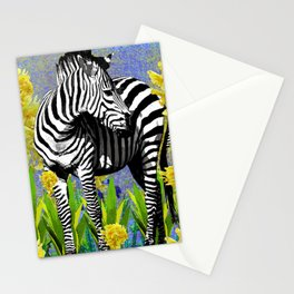 ZEBRA YELLOW ORCHIDS TROPICAL BLOOM Stationery Cards
