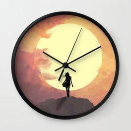 Hope at sunset Wall Clock