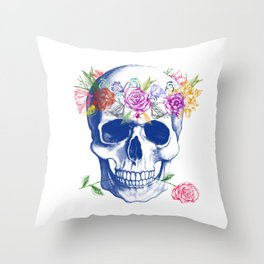 Halloween Skull Throw Pillow