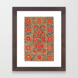 Kermina Suzani Uzbekistan Print Framed Art Print