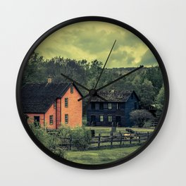 Historic Miners Village Coal Mining Town Pennsylvania Eckley Rural Living Wall Clock