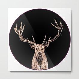 Golden Buck Metal Print
