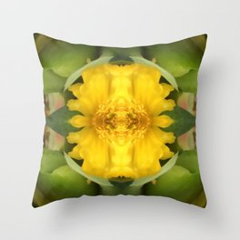 Freedom Flower Throw Pillow