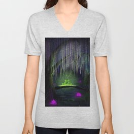 Frogs on a log Unisex V-Neck