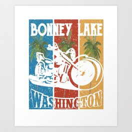 Bonney Lake Washington Lifestlye Retro Custom Art Print